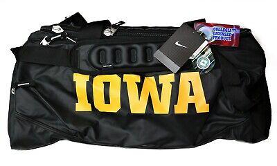 New Nike Iowa Hawkeyes Team Training Medium Duffel Bag NCAA Max Air