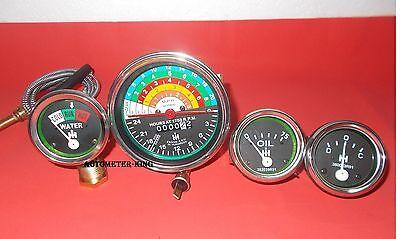 Ih Farmall 300 350 Gas Utility Tachometertempoil Pressure Ampere Gauge Set