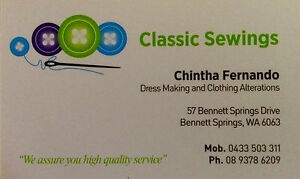 Dress Making &Clothing Alterations Beechboro Swan Area Preview