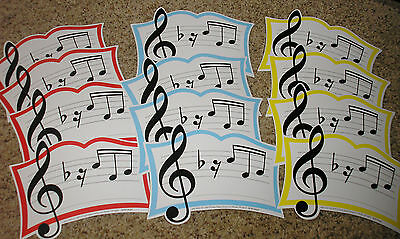 (Teacher Resource: 12 Music Bulletin Board Accents)