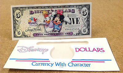 5 $ Disney Dollar Disneyland 2009 Minnie Mouse & Daisy Duck Geldschein A00147654
