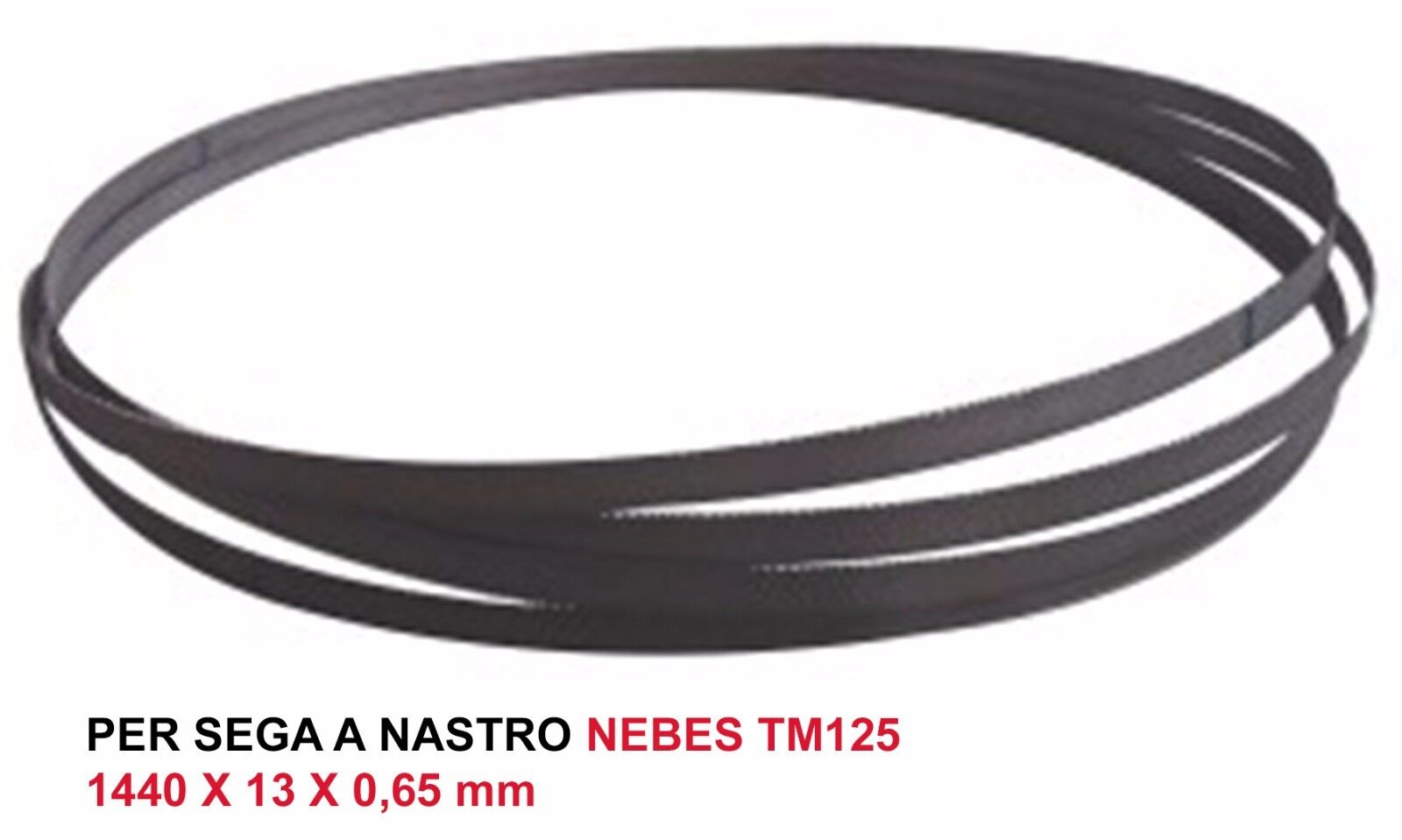 LAMA SEGA A NASTRO BIMETAL M42  RICAMBIO PER NEBES TM125  (1440 x 13 x 0,65 mm)