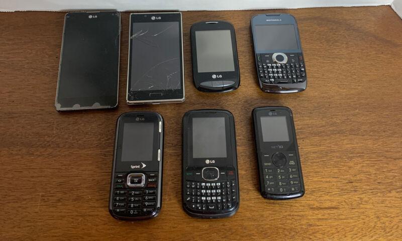 LG & Motorola Phone Lot (7 Total) Not tested