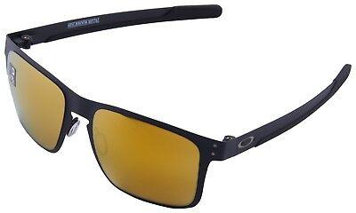Oakley Holbrook Metal Sunglasses OO4123-1355 Matte Black | 24K Iridium Lens BNIB