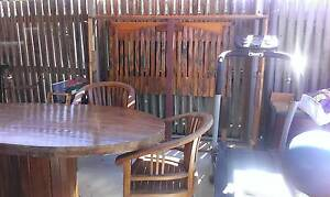 Solid large wooden table with unique base. Camp Hill Brisbane South East Preview