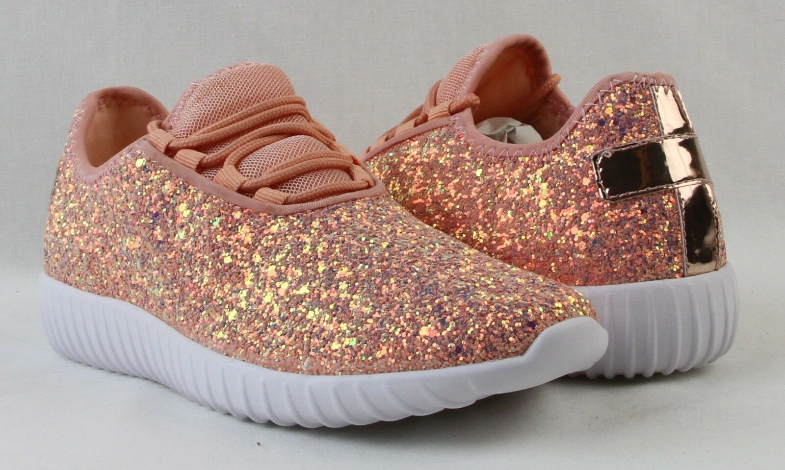 Women Sequin Glitter Sneakers Tennis Lightweight Comfort Walking Athletic Shoes