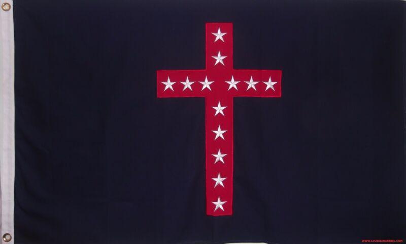 HEAVy COTTON 3 FEET X 5 FEET 4TH KENTUCKY ORPHANS CIVIL WAR FLAG - CSA SEWN