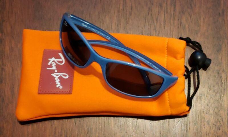 BLUE  WRAP RAY-BAN JR Sunglasses Frame Italy RJ9019S 109/6G 53-15mm