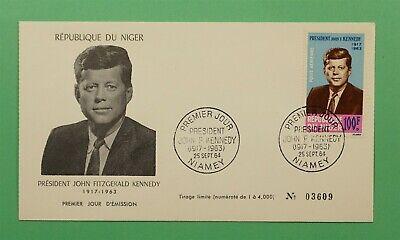 DR WHO 1964 NIGER FDC JFK JOHN F KENNEDY  C241261
