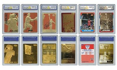 Michael Jordan Mega-Deal Licensed Cards Graded Gem-Mint 10 (SET OF 6) * MUST SEE