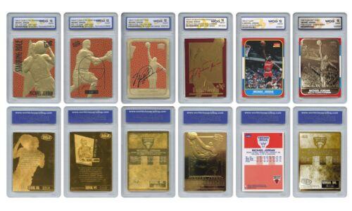 Michael Jordan Mega-deal Licensed Cards Graded Gem-mint 10 (set Of 6) * Must See