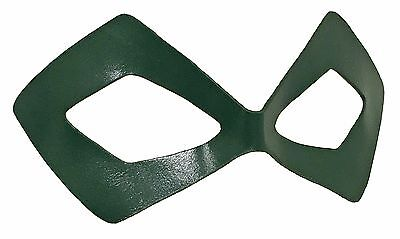 Green Arrow / Arsenal Costume Leather Eye Mask - MOST Authentic - FREE Bonus! - Authentic Superhero Costumes
