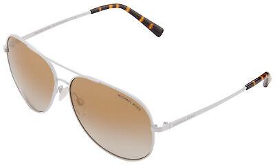 Michael Kors Kendall I Sunglasses MK 5016 11726E 60 Matte White   Gold Mirror (Michael Kors White Sunglasses)