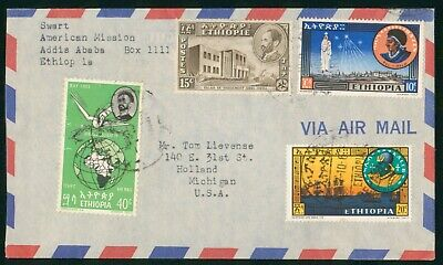 MayfairStamps Ethiopia to Holland Michigan Air Mail Cover wwo60773