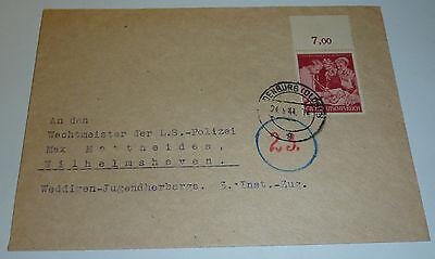 Wachtmeister L.S. Polizei Wilhelmshaven Weddigen Jugendherberge 3.Inst.-Zug 1944