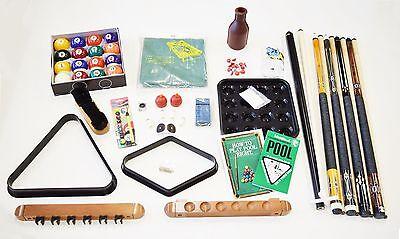Pool Table Best Deluxe Billiard Accessory Kit Pool Cue Sticks Bridge Ball (Best Cheap Pool Table)