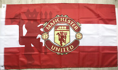 Manchester United 3X5FT Red Devils Premier Football Soccer Flag 2Grommets/320