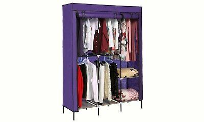 Wardrobe Portable Closet Wardrobe Storage Space Organizer Violet