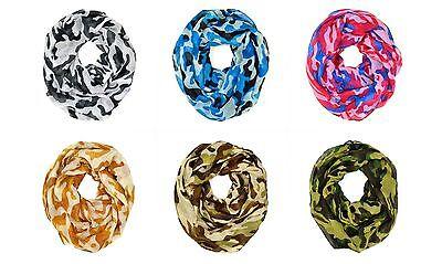 Camouflage Camo Print Hunting Outdoor Circle Loop Infinity Scarf Multi Color (Eternity Circle Loop)