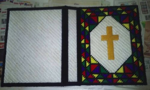 Handmade Stained Glass Cross Bible Cover