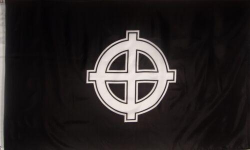 CELTIC CROSS FLAG - BLACK AND WHITE -  3