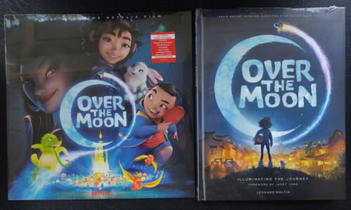Over The Moon (2020 Animated Film) Pressbook and Soundtrack LP Record
