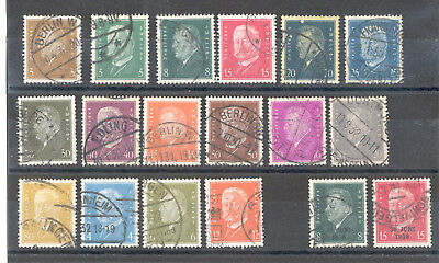 Germany - Lot of used Stamps Years 1928 - 1932 Reichspresidenten