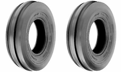 Two 2 4.00-8 400-8 4.00x8 Tri-rib 3 Rib 4 Ply Rated Tractor Tires