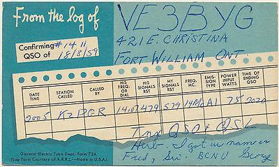 Amateur Radio Postcard  Canada  Scans show both sides (LOT A82)
