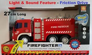 TOY FIRE TRUCK FIRE ENGINE FIRE RESCUE FIRE FIGHTER LIGHT & SOUND KIDS PLAY TOY