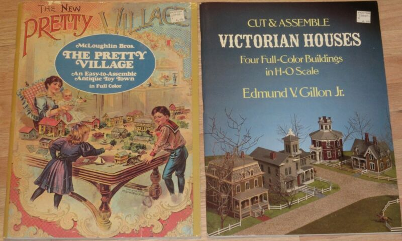 VTG-Lot of 2-NEW PRETTY VILLAGE Antique Toy Town & VICTORIAN HOUSES in HO Scale
