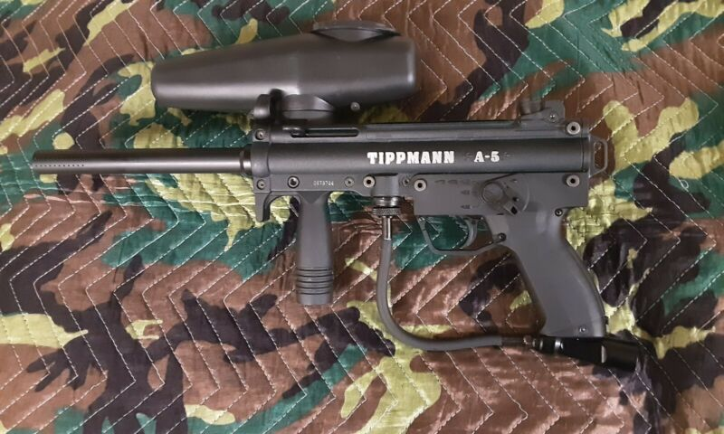 Discontinued TIPPMANN A5 with Electronic E GRIP (Includes ALL firing modes)