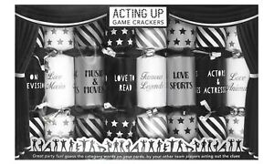 Acting Up Game Christmas Crackers Family Festive Fun Novelty Xmas Box of 8