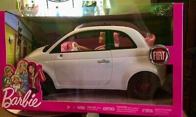 Barbie White Car Fiat Plus Barbie Doll Set -FREE SHIP