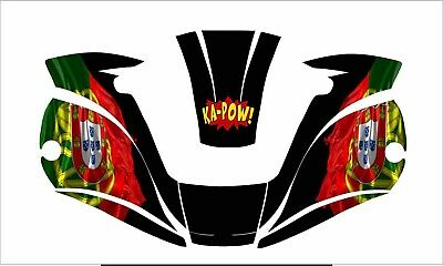 Miller Digital Elite Titanium Welding Helmet Decal Sticker Portuguese Flag
