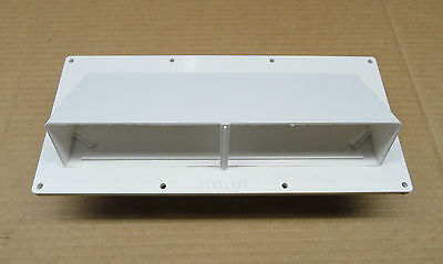 NEW - RV/Camper/Trailer - Stove Vent With Hinged/Lockable Damper, WHITE