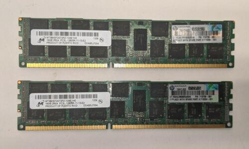 32GB(2 x 16GB) Micron 2Rx4 PC3L-12800R ECC Registered Server RDIMM RAM Memory