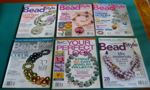 Bead Style  Magazines - Creative Jewelry Making   lot of 6 year 2006 to 2011