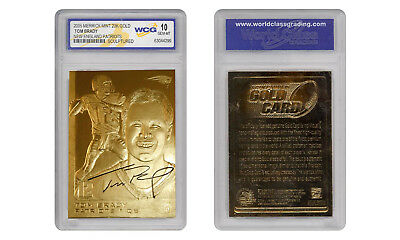 2005 TOM BRADY SCULPTED NFL NEW ENGLAND PATRIOTS 23KT GOLD CARD - GEM-MINT 10
