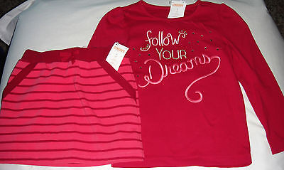 Gymboree Star of the Show follow your dreams top & pink skort skirt NWT 5