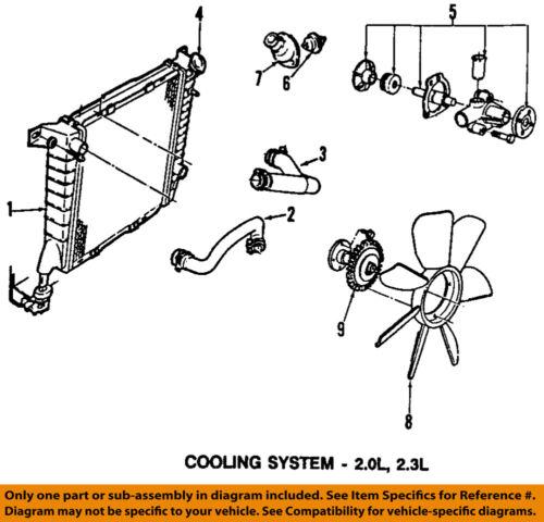 FORD OEM 98-01 Ranger Radiator-Upper Hose F87Z8260CC   eBay   Ford Ranger Engine Cooling Diagram      eBay