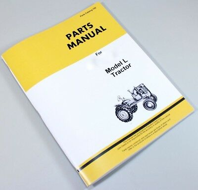 Parts Manual For John Deere Model L Tractor Catalog Exploded Views Assembly