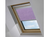 VELUX WINDOW, LILAC BLACKOUT ROLLER BLIND BY BLOC, GGL M08, BRAND NEW, £30 COLLECT DUNDEE