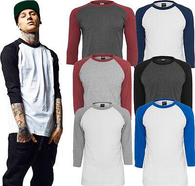 Urban Classics Herren longsleeve 3/4 Arm Shirt lang oversize Pullover T-Shirt  - 3/4 Sleeve Shirt