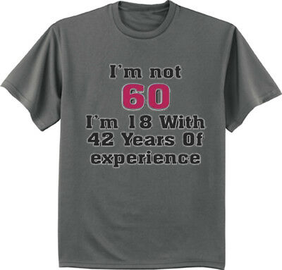 60th Birthday Gift T-shirt Turning 60 Funny Saying Graphic Tee Gift for Men ()