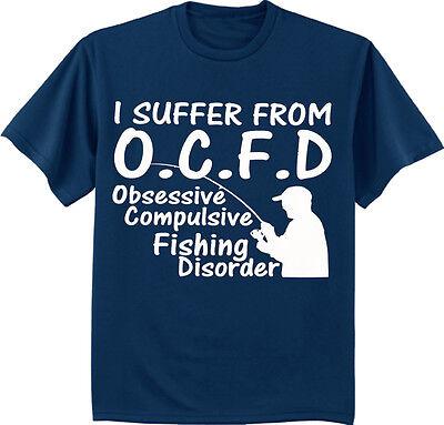 (Men's t-shirt funny fishing shirts for men OCFD bass trout fisherman gift tee)