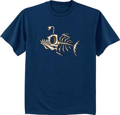 Skeleton T Shirts (men's big and tall t-shirt skeleton fish bones fishing big and tall funny)