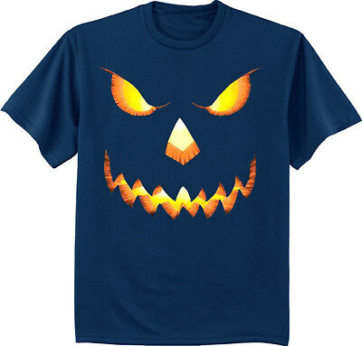 Men's big and tall t-shirt Halloween pumpkin jack o lantern costume tall tee