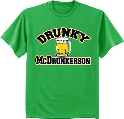 Big and Tall T-shirt - St. Patricks Day Funny Drunk Irish Green