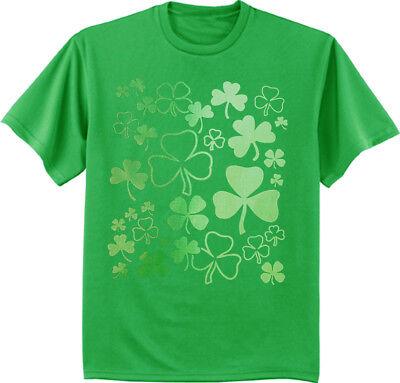 Big and Tall T-shirt - St. Patricks Day Lucky Shamrocks Irish Green
